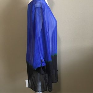 Liz Claiborne tunic style sheer two tone top